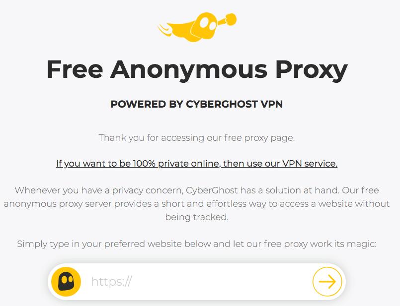 cyberghost proxy