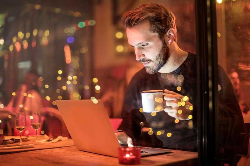 guy working in coffeeshop